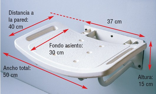 Asiento Ducha de Pared Abatible