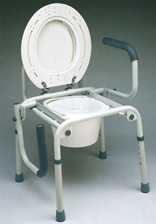 Silla con WC Regulable con Brazos Abatibles